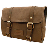 AsdruMark Brown Leather & Canvas Hanging Wash Bag
