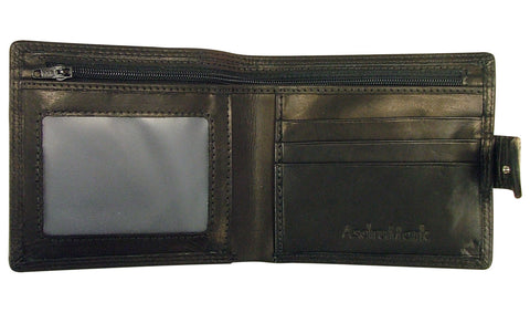 AsdruMark Black Leather Wallet