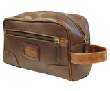 AsdruMark Brown & Cognac Leather Wash Bag