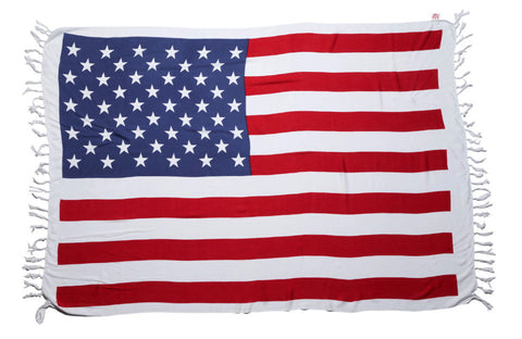 AsdruMark US Stars & Stripes Flag Beach Throw/Sarong
