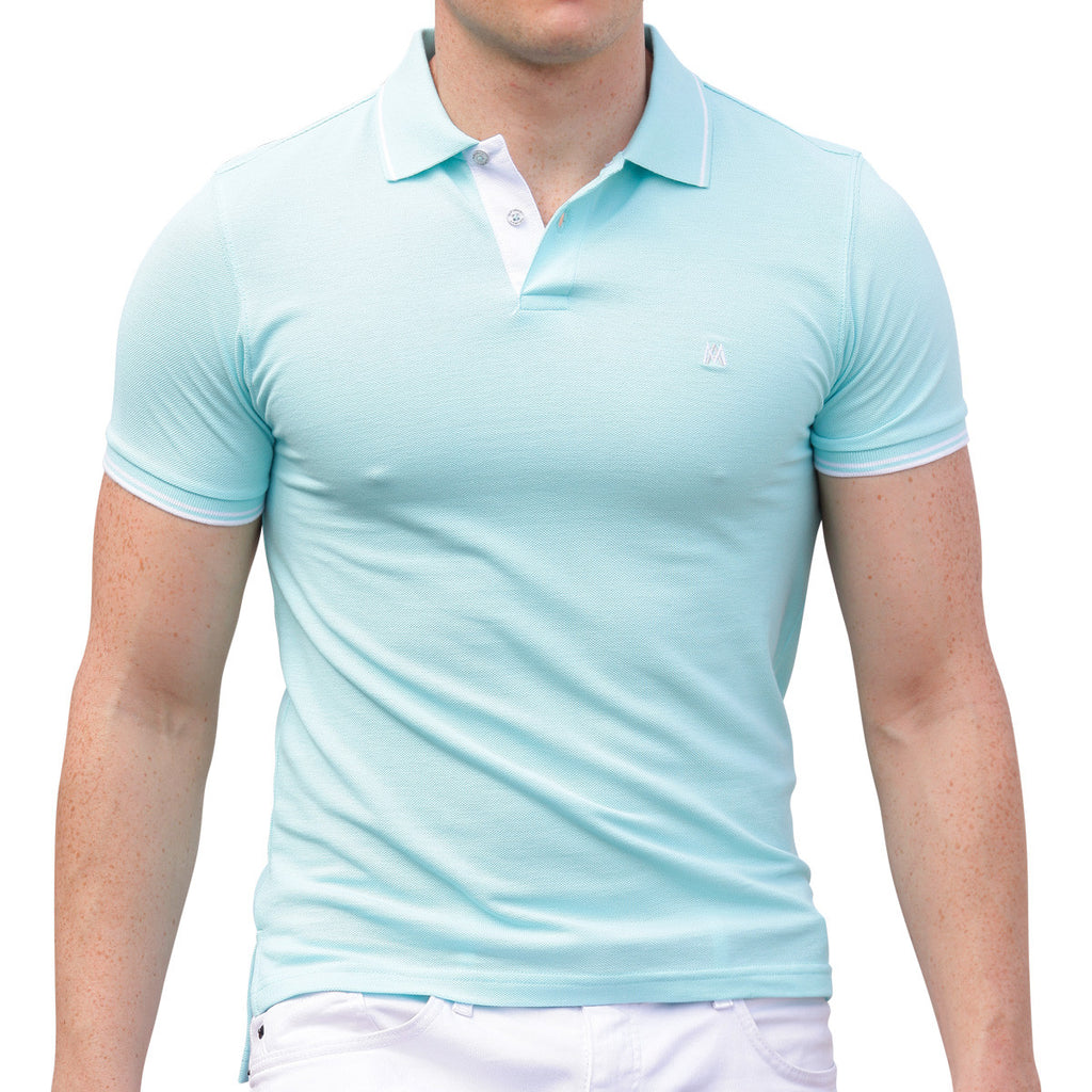 AsdruMark Polo Shirt Aquamarine