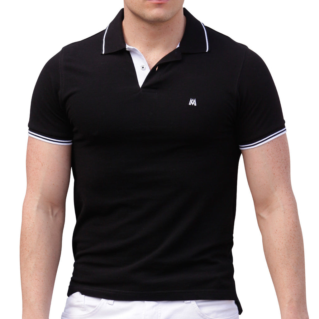 AsdruMark Polo Shirt Black-White