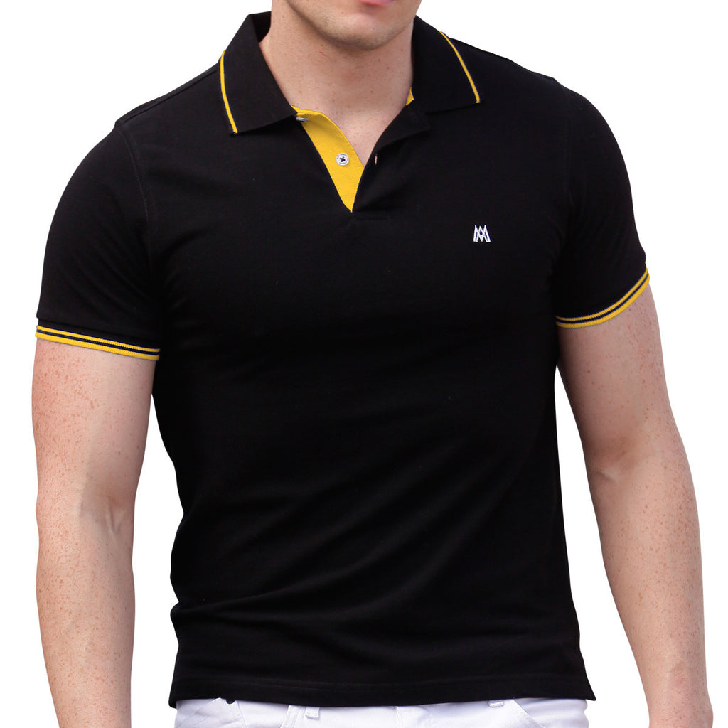 AsdruMark Polo Shirt Black-Yellow