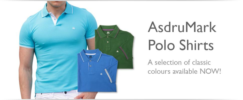 AsdruMark 'Classic' Slim Fit Polo Shirts for Men