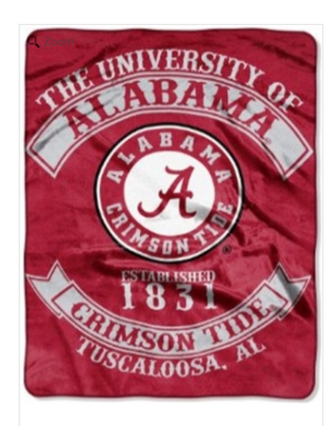 Alabama Crimson Tide Twin Blanket