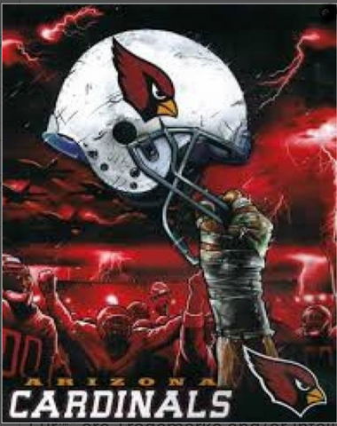 Arizona Cardinals Helmet Twin Blanket