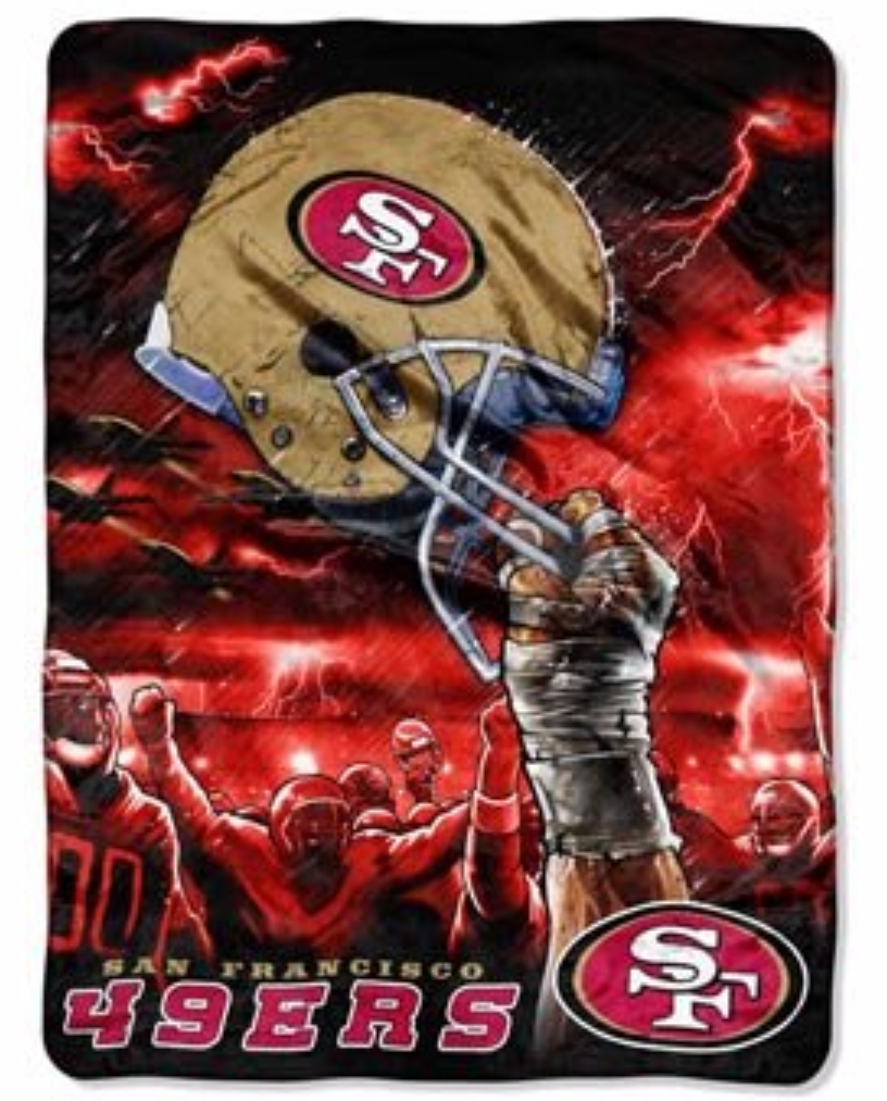 San Francisco 49ers sky helmet Twin Blanket