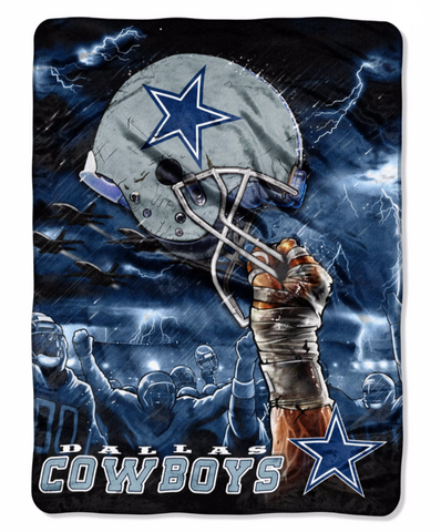 Dallas Cowboys Helmet Twin Blanket