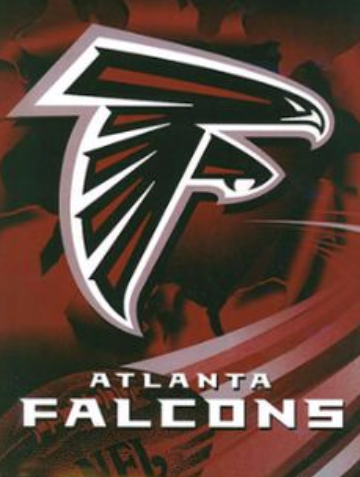 Atlanta Falcons red Twin Blanket
