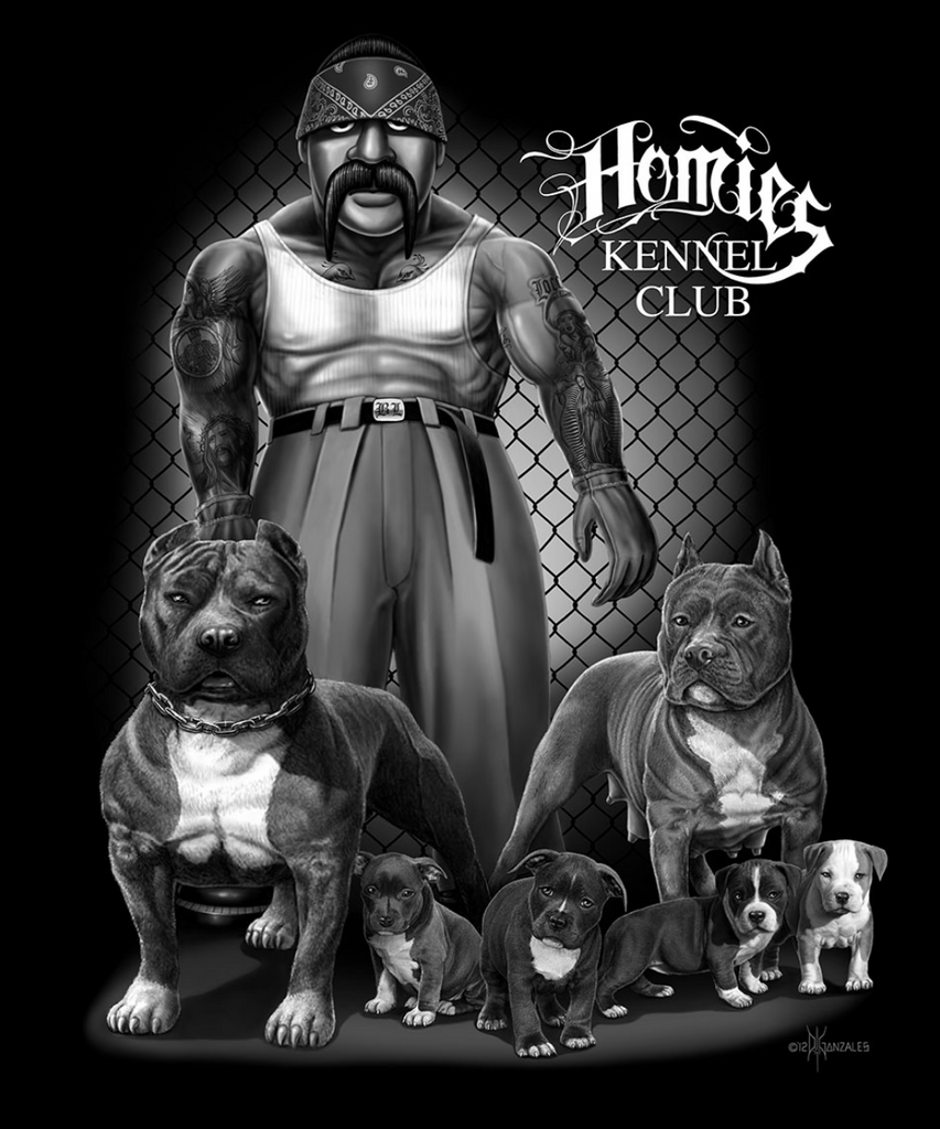 Homies Kennel Club Queen Blanket