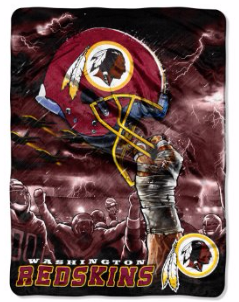 Redskins sky helmet Twin Blanket