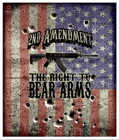 2nd Amendment Right To Bear Arms Queen Blanket