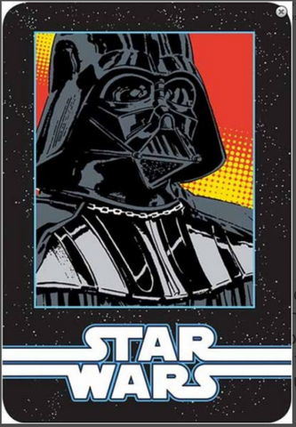 Star Wars Darth Vader grid twin Blanket