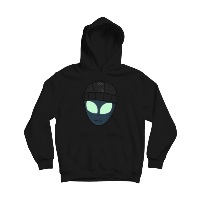 Alien Man From The Sand Hoodie - Black (Glow)