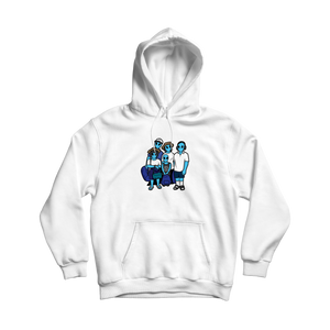 Skyblue Alien Family Hoodie - White