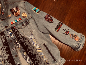 Custom Skyblue Klay/Rocco Championship Tribute Denim Jacket