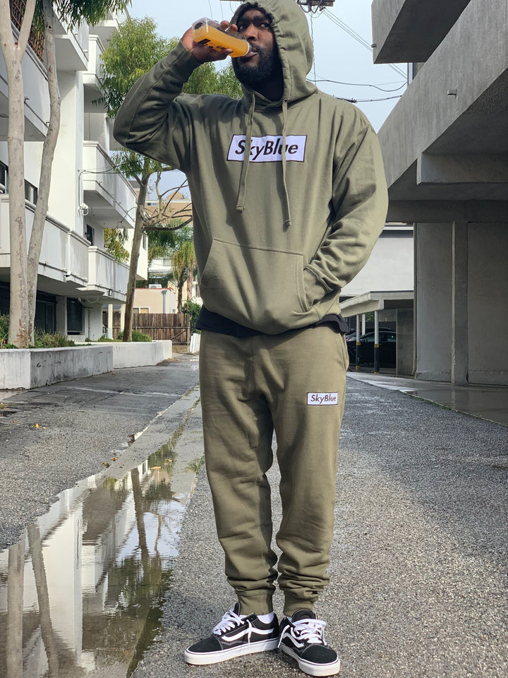 Olive Box Logo Sweats