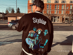 Skyblue Members Only Letterman's Jackets