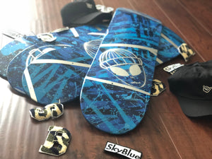Skyblue Alien Skate Deck