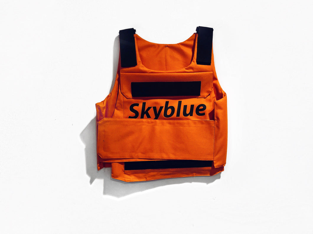 Orange Skyblue Utility Vest