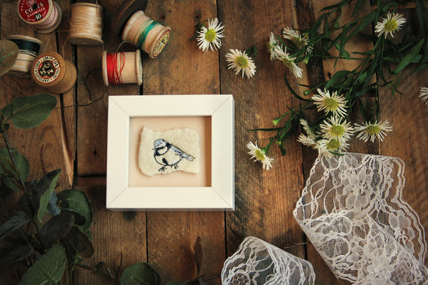 mini frame- bluetit