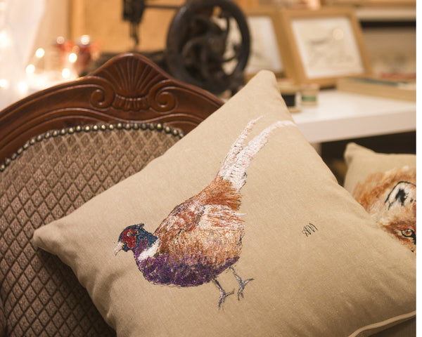 Cushion- pheasant