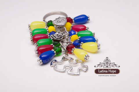 Autism Awareness Puzzle Key Chain - FREE SHIPPING!