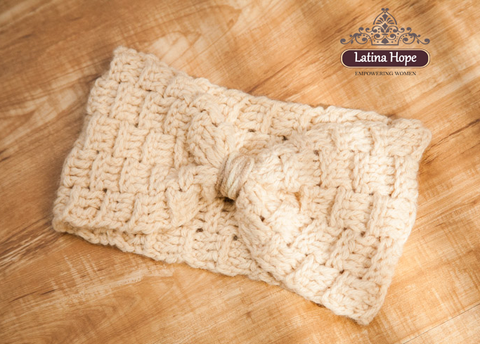 Cream-Colored Crocheted Hair Band - FREE SHIPPING!