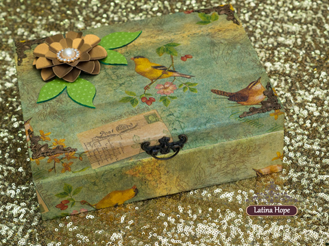 Large Wooden Decoupaged Box