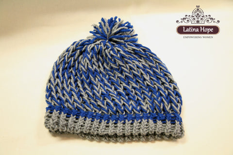 Blue Gray Beanie - FREE SHIPPING!