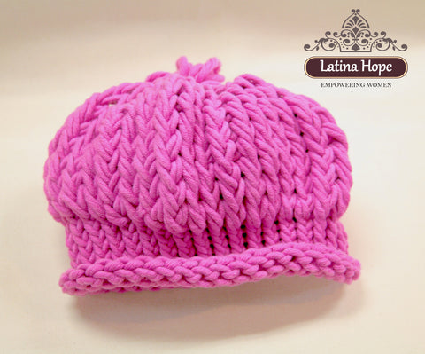 Slouchy Pink Beanie - FREE SHIPPING!