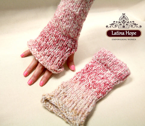 Pink Beige Hand Warmers - FREE SHIPPING!