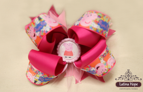 Peppa Pig Pink Bow - FREE SHIPPING!