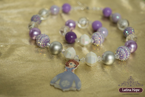 Chunky Sophia the First Inspired Girl's Bracelet and Necklace Set - FREE SHIPPING!