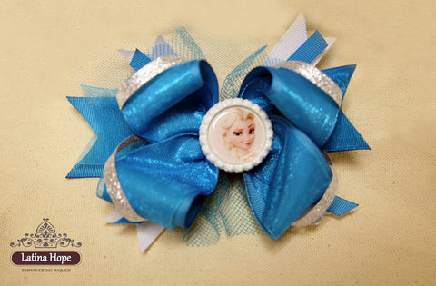 Frozen Elsa Bow - FREE SHIPPING!