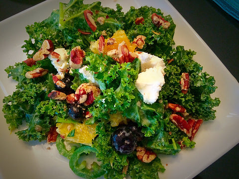 Citrus Kale Salad with Hamilton Ranches Pecans