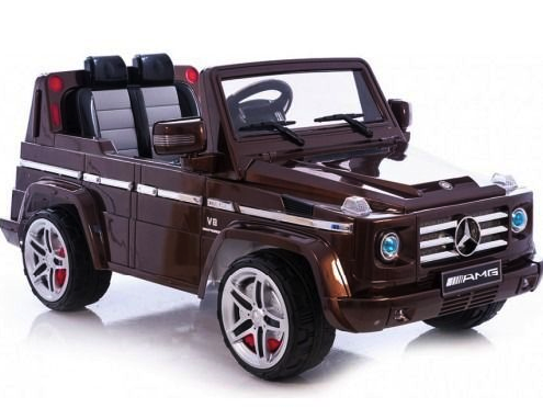 Mercedes Benz G55 12V Toy Ride On Exquisitely Detailed Car Parent RC Brown - GarageN1  - 1