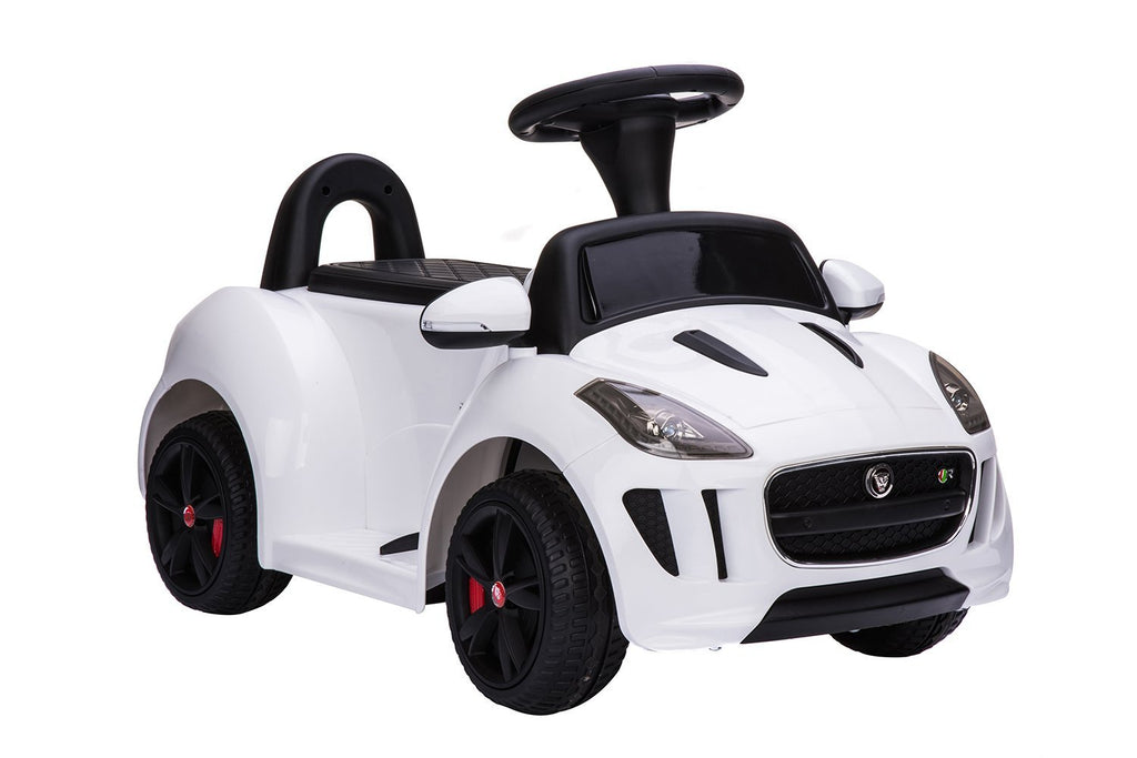 Jaguar Push Car 6v White - My Tiny Wheels