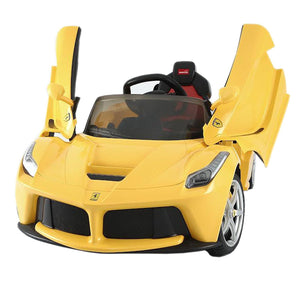 Licensed LAFerrari 12V Ride On Car Yellow - My Tiny Wheels