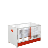Classic Bed For Infant Solid Wood with Orange Elements - My Tiny Wheels