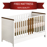 "Crib For Toddler  ""Provence"" ECO Friendly Materials Openable Rails"