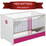Classic Bed For Girl with Mattress and Pink Elements - My Tiny Wheels