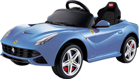 Licensed Ferrari F12 Battery Powered Ride On Car 12V Real Like Paint Blue