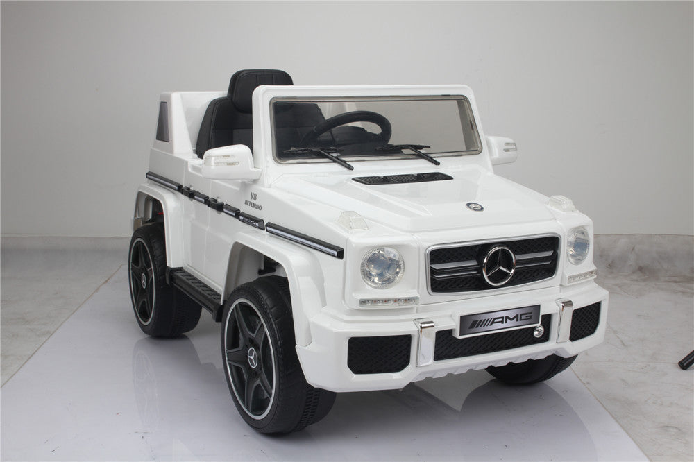 Licensed mercedes benz g63 12 v white buy online on my for Red mercedes benz power wheels
