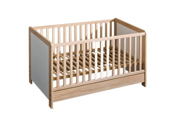 Newborn Convertible 4-in-1 Crib  with Rail Solid Wooden - My Tiny Wheels