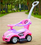 Mega 3-in-1 Push Car Deluxe Pink - My Tiny Wheels