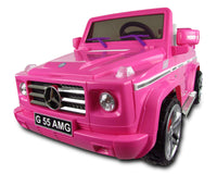 Licensed Mercedes Benz G55 12 V Pink