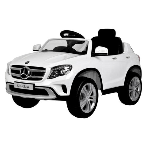 Mercedes Mercedes GLA Ride On 12 Volt Car Working Lights MP3 And Sounds White - GarageN1  - 1