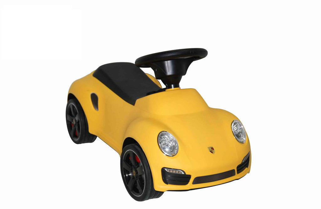 Licensed Porsche 911 Turbo Push Car Yellow - My Tiny Wheels