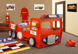 Fire Truck Bed ECO Materials Durable Wooden Frame Slabs Red - My Tiny Wheels